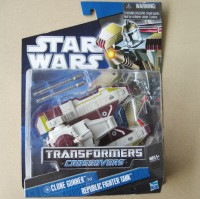 Transformers Star Wars Crossovers Republic Fighter Tank- Mint On Card Image