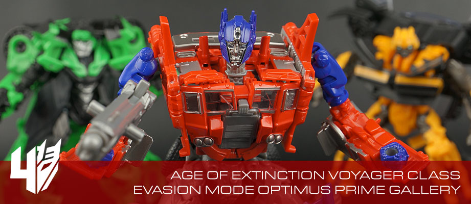 New Gallery: Age of Extinction Generations Voyager Evasion Mode Optimus Prime
