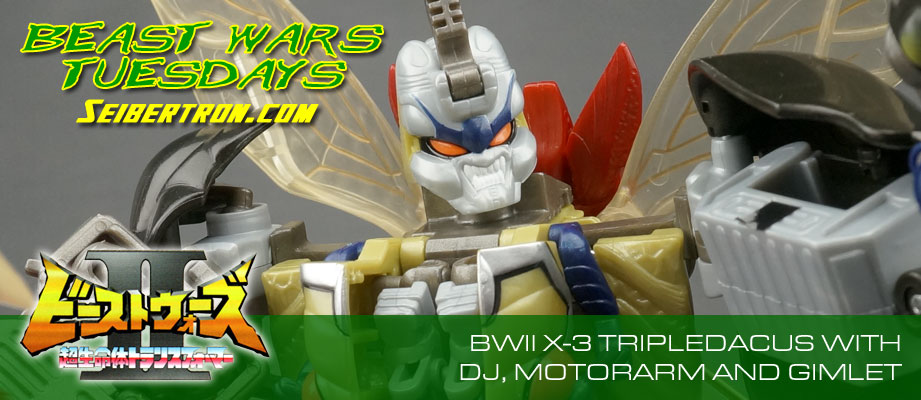 New Galleries: Beast Wars II X-3 Tripledacus with DJ, Gimlet and Motorarm