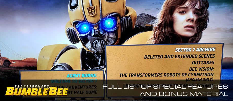 In-hand images and full list of special features and bonus material on Bumblebee 4K Ultra HD Blu-Ray Combo set