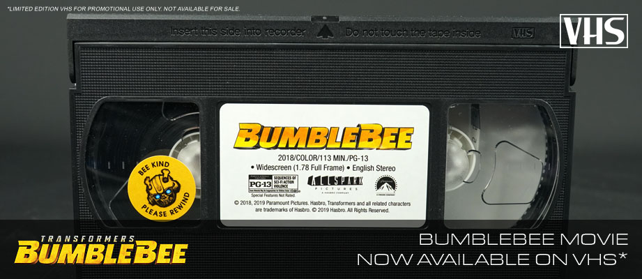 Bumblebee Movie Now Available on VHS*