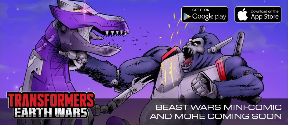 Updates on Transformers: Earth Wars Beast Wars: New Comic, Optimus Primal, Megatron