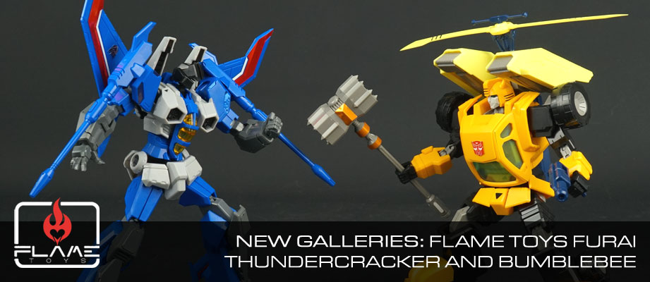 New Galleries: Flame Toys Furai Model Kits Thundercracker and Bumblebee