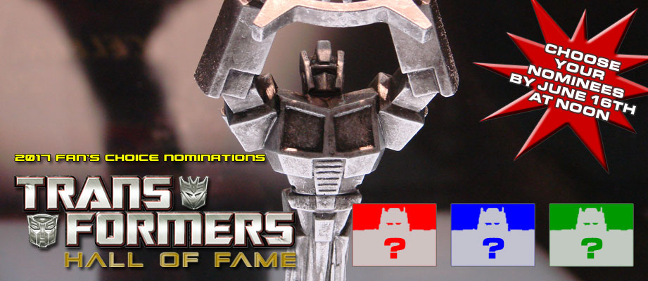 Hasbro's 2017 Transformers Hall of Fame Fans' Choice Voting