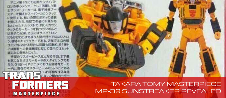 Takara Masterpiece MP-39 Sunstreaker Revealed