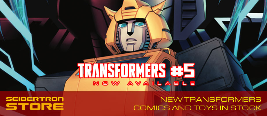 Transformers #5 and other new TF comics in stock at Seibertron Store on eBay