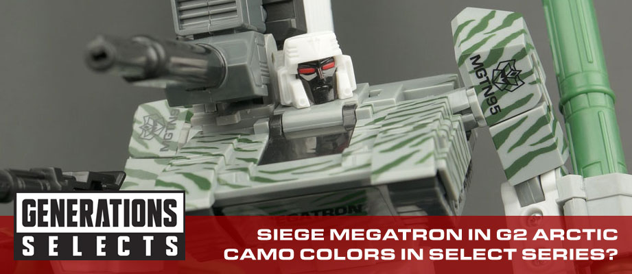 Generations Selects Megatron in unreleased G2 colors, plus more info about this new collector line