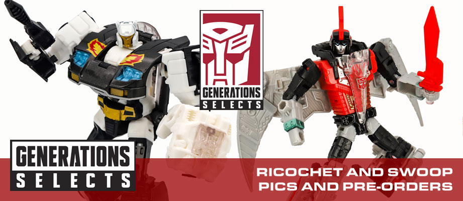 First Images of Transformers Generations Selects Deluxe Red Swoop and Ricochet + pre-orders available
