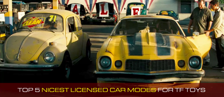 Top 5 Nicest Licensed Car Modes Among Transformers Toys