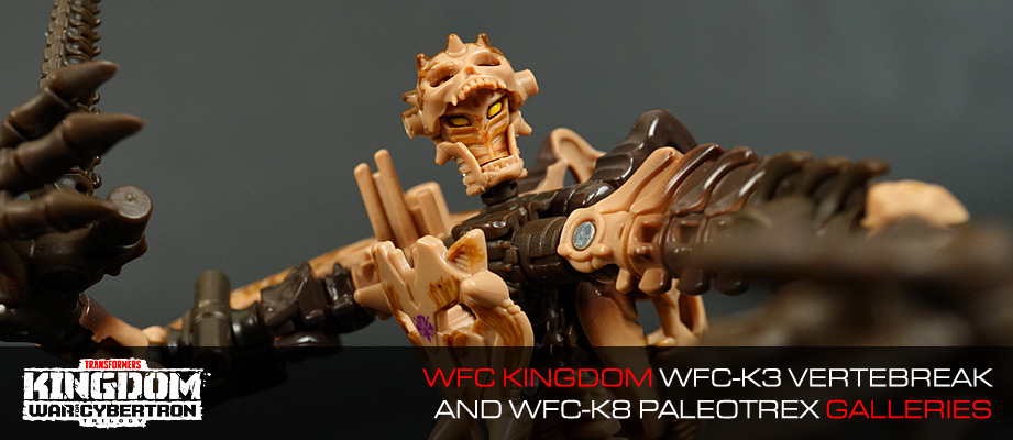 New Galleries: Transformers War for Cybertron Kingdom WFC-K3 Vertebreak and WFC-K7 Paleotrex