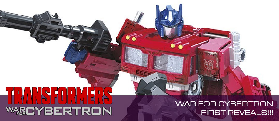 First Images of Transformers War for Cybertron: Siege Optimus Prime, Sideswipe, Battle Master Firedrive #HasbroSDCC