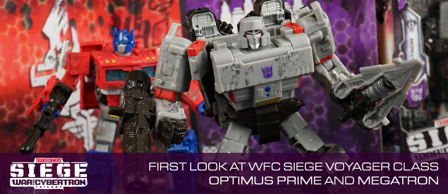 Video Review + In-Hand Images of Transformers WFC Siege Optimus Prime and Megatron