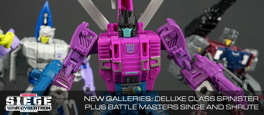 New Galleries: WFC Siege Deluxe Class Spinister with Battle Masters Singe and Shrute