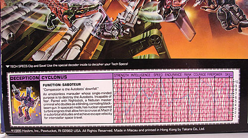 Transformers G1 1987 Cyclonus (Image #15 of 164)