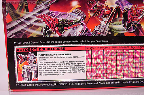 Transformers G1 1987 Doublecross (Image #13 of 80)