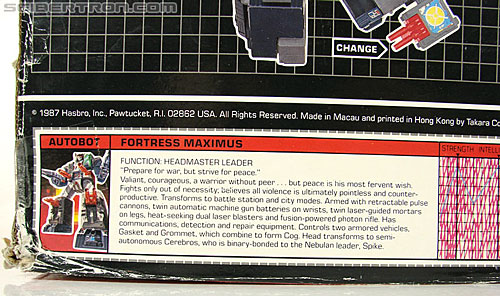 Transformers G1 1987 Fortress Maximus (Image #33 of 250)