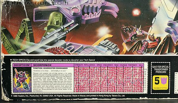 Transformers G1 1987 Scorponok (Megazarak) (Image #18 of 259)
