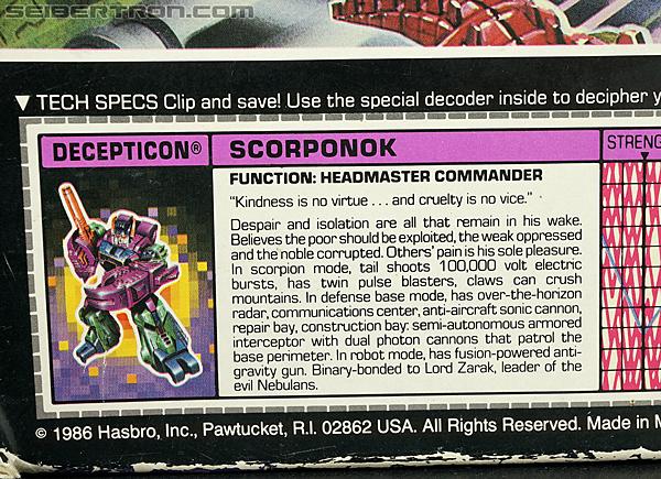 Transformers G1 1987 Scorponok (Megazarak) (Image #19 of 259)