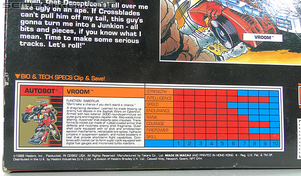 Transformers G1 1989 Vroom (Image #25 of 219)