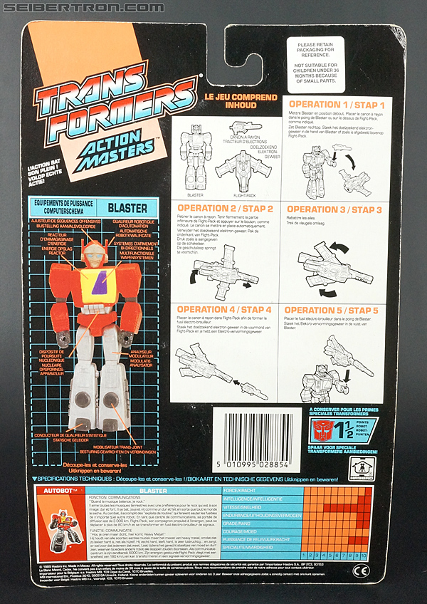 Transformers G1 1990 Blaster with Flight Pack (Image #10 of 124)