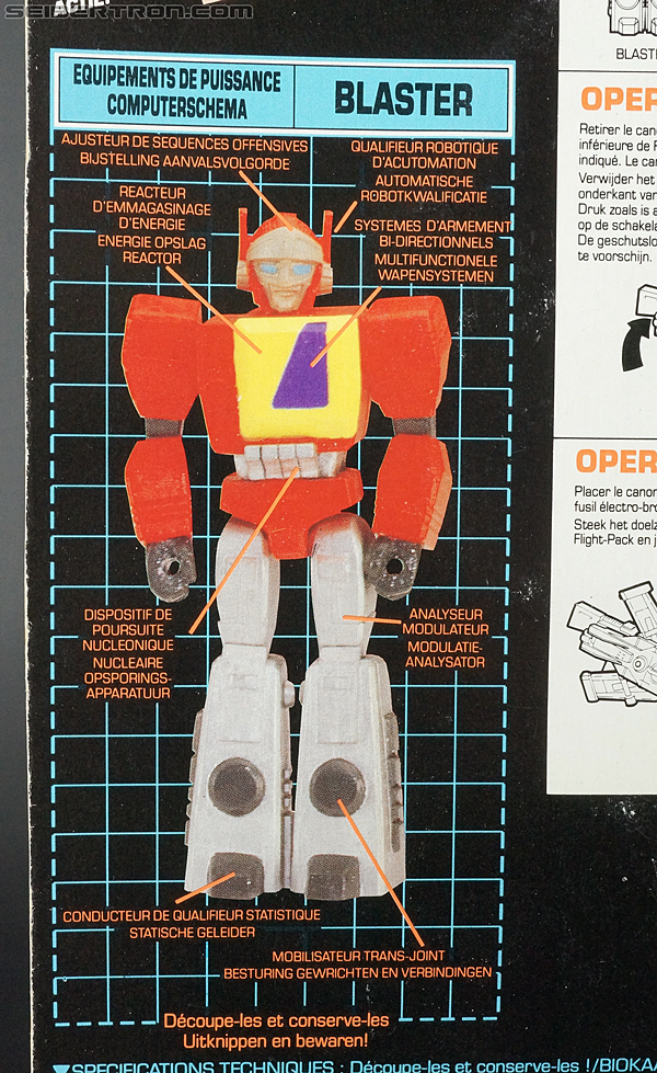 Transformers G1 1990 Blaster with Flight Pack (Image #11 of 124)