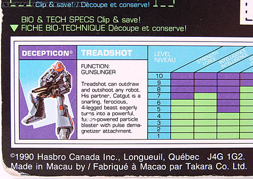 Transformers G1 1990 Treadshot with Catgut (Image #15 of 86)