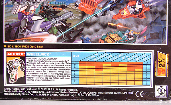 Transformers G1 1990 Wheeljack with Turbo Racer (Image #17 of 178)