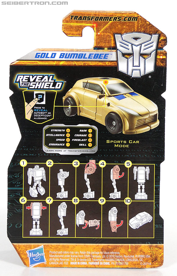 Transformers Reveal The Shield Gold Bumblebee (Image #5 of 100)