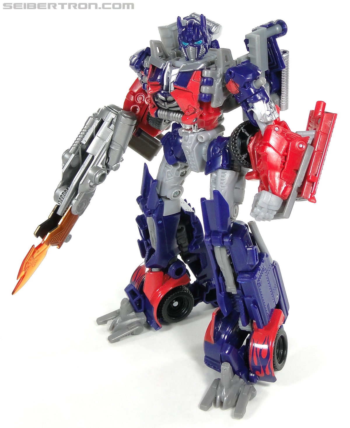 transformers dark of the moon optimus prime with mechtech trailer