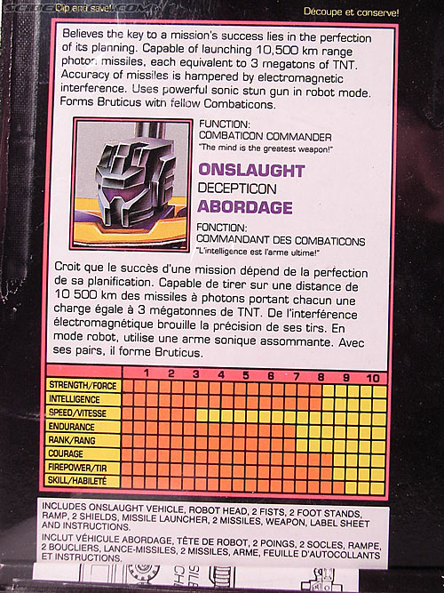 Transformers Generation 2 Onslaught (Image #14 of 110)