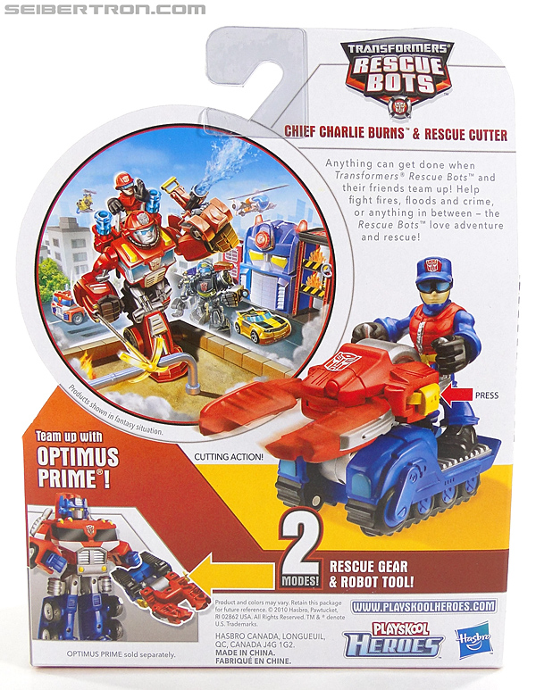 Transformers Rescue Bots Chief Charlie Burns & Rescue Cutter (Image #6 of 79)