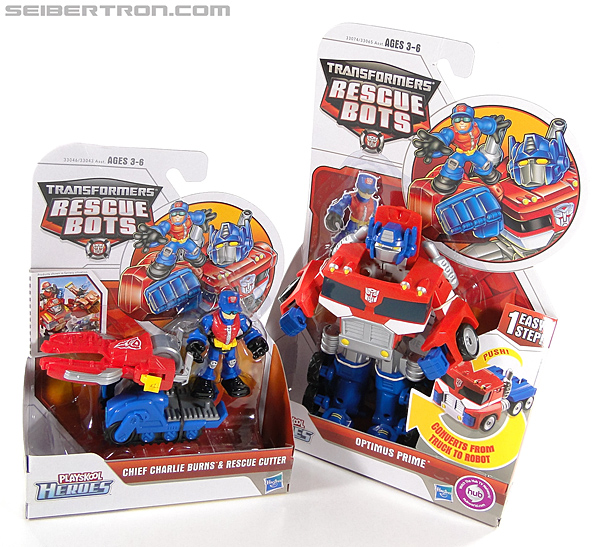 Transformers Rescue Bots Chief Charlie Burns & Rescue Cutter (Image #14 of 79)