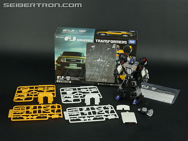 Transformers News: New Galleries: Takara Tomy Transformers Toyota FJ Cruiser Optimus Prime White and Yellow Versions