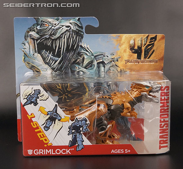 Transformers News: New Galleries: Age of Extinction One-Step Drift, Grimlock, and Optimus Prime