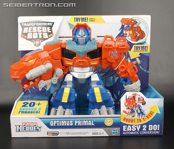 Transformers News: New Galleries: Rescue Bots Roar and Rescue Electronic Optimus Primal, Dinobots Heatwave and Blades