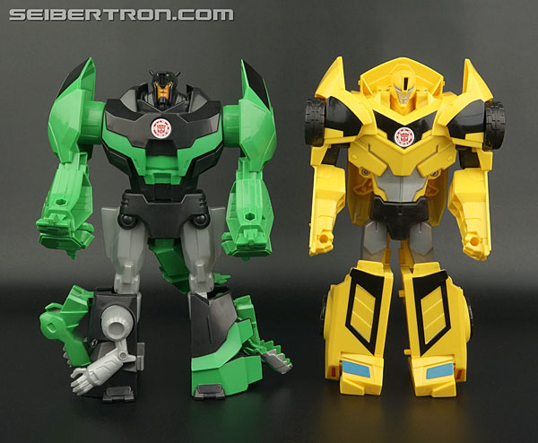 Transformers News: New Galleries: Robots In Disguise 3-Step Hyperchange Grimlock and Bumblebee