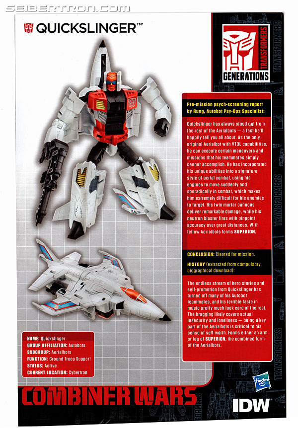 Transformers Generations Combiner Wars Quickslinger (Slingshot) (Image #17 of 217)