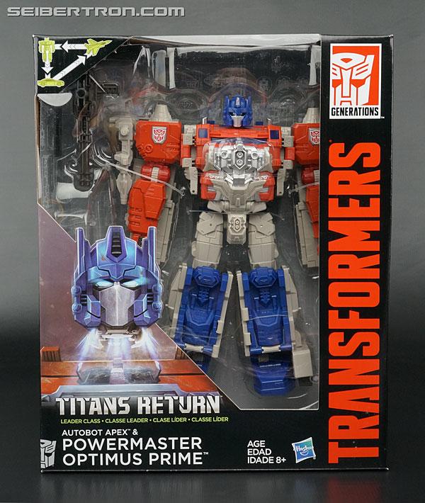 Transformers News: New Galleries: Titans Return Leader Class Powermaster Optimus Prime with Apex