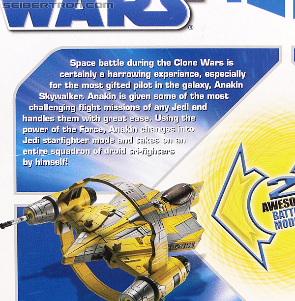 Star Wars Transformers Anakin Skywalker (Jedi Starfighter with Hyperspace Docking Ring) (Image #9 of 131)