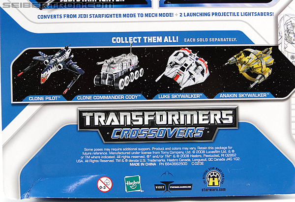 Star Wars Transformers Anakin Skywalker (Jedi Starfighter with Hyperspace Docking Ring) (Image #10 of 131)