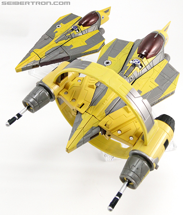 Star Wars Transformers Anakin Skywalker (Jedi Starfighter with Hyperspace Docking Ring) (Image #31 of 131)
