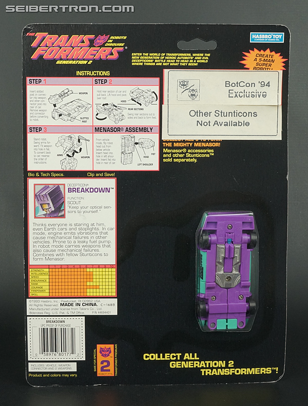 New Galleries: Botcon 1994 G2 Breakdown and BotCon 2004 Action Master G2 Breakdown