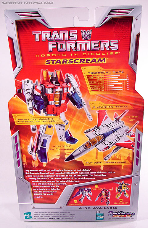 Transformers Classics Starscream (Image #8 of 113)