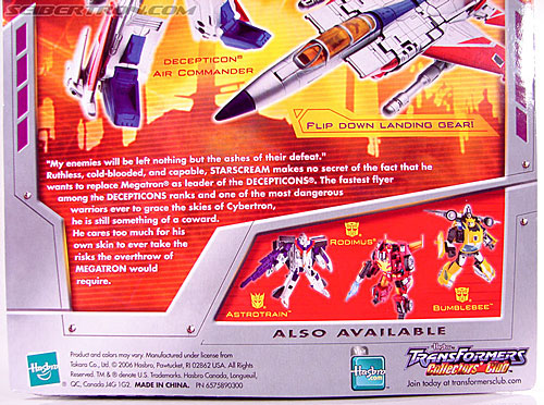Transformers Classics Starscream (Image #12 of 113)