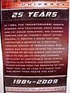Transformers Classics Optimus Prime (25th Anniversary) - Image #19 of 267