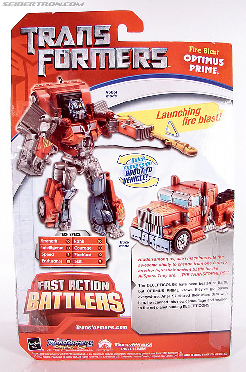 Transformers (2007) Fire Blast Optimus Prime (Image #8 of 80)