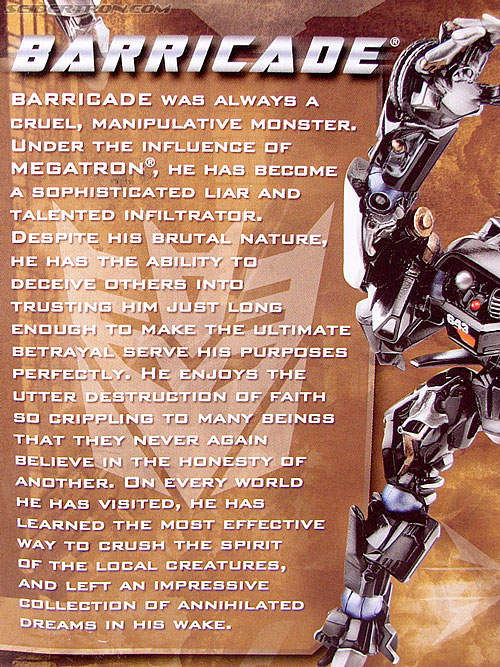 Transformers (2007) Barricade (Robot Replicas) (Image #6 of 63)