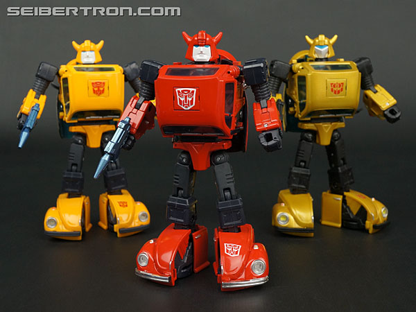 Transformers News: New Galleries: Masterpiece MP-14C Clampdown and MP-21R Bumblebee Red Body