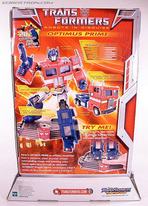 Transformers Masterpiece Optimus Prime (20th Anniversary DVD) (Image #11 of 183)