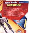 Transformers Revenge of the Fallen Battle Blade Sideswipe - Image #7 of 74